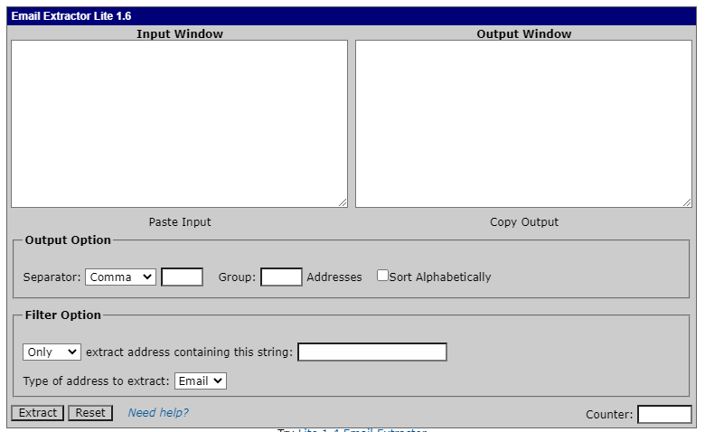 Lite1.6 Email Extractor